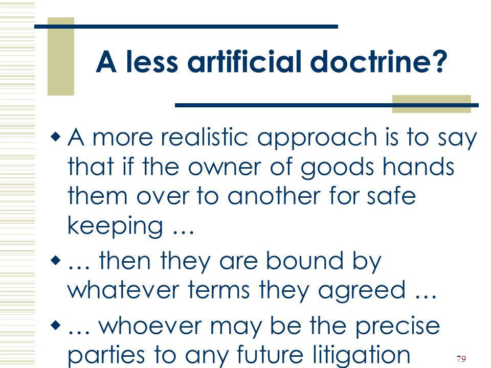 A less artificial doctrine