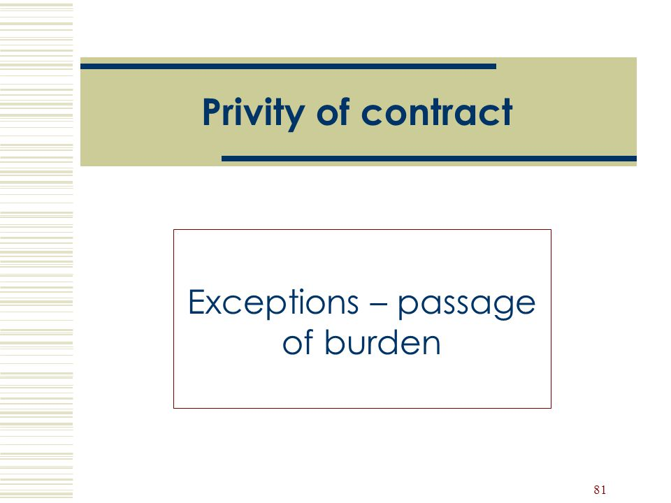 Exceptions – passage of burden