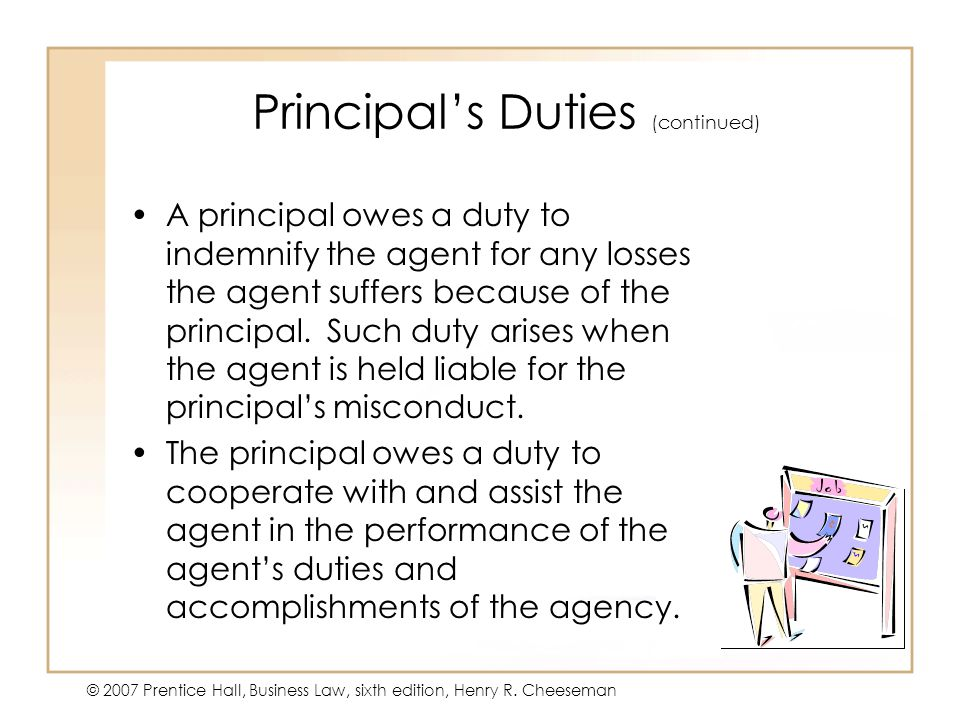 Principal's Duties (continued)
