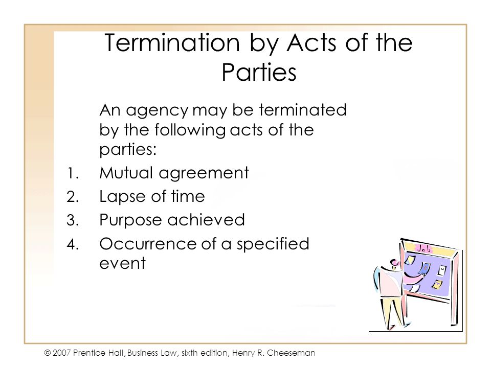 Termination by Acts of the Parties