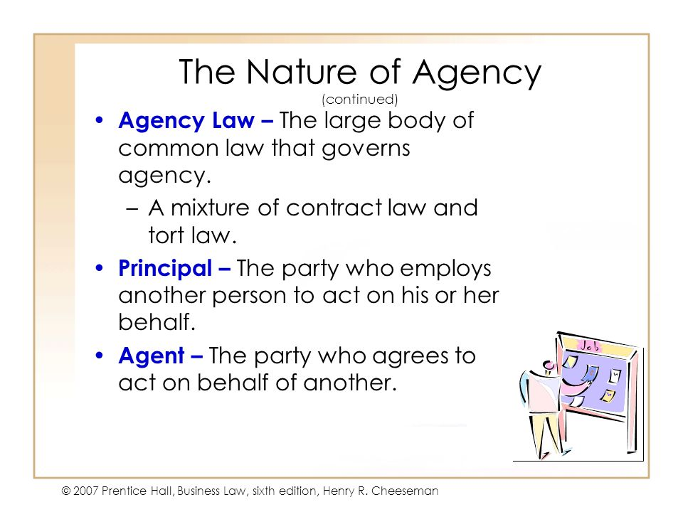 The Nature of Agency (continued)