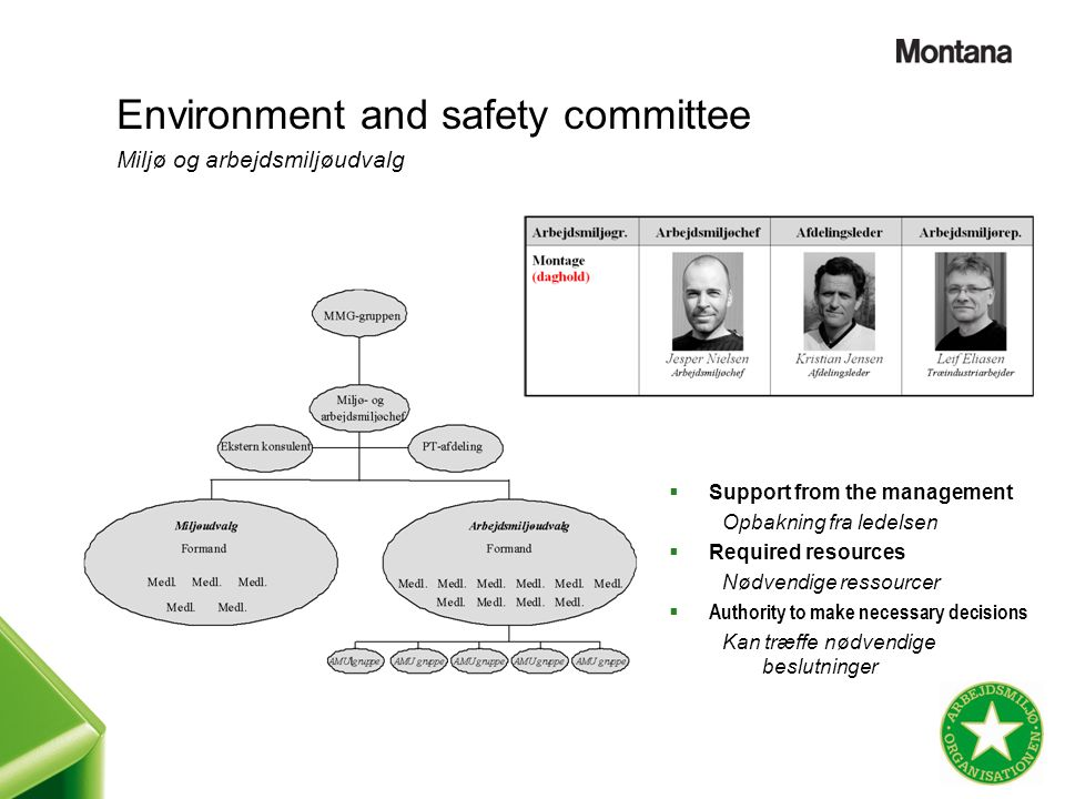 Environment and safety committee