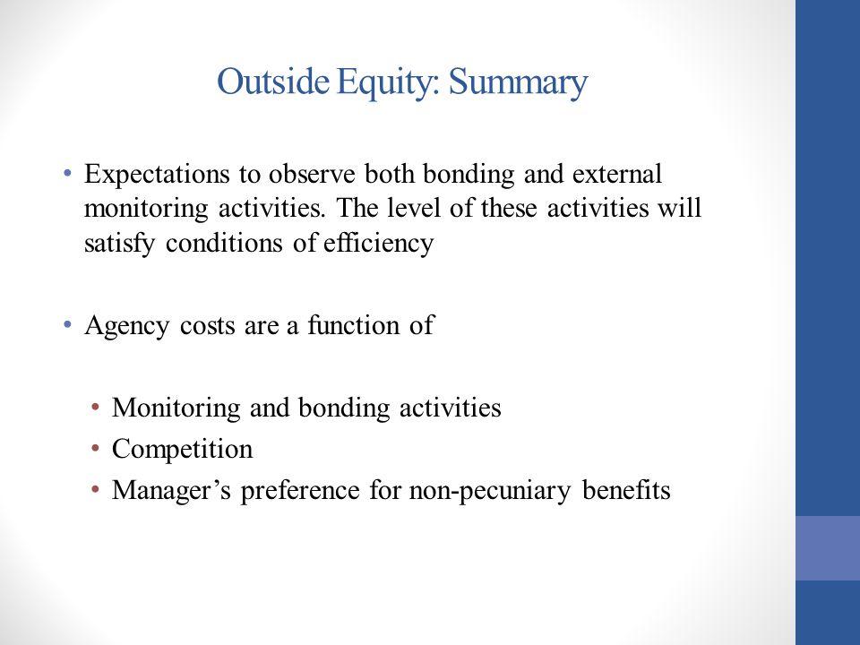 Outside Equity: Summary