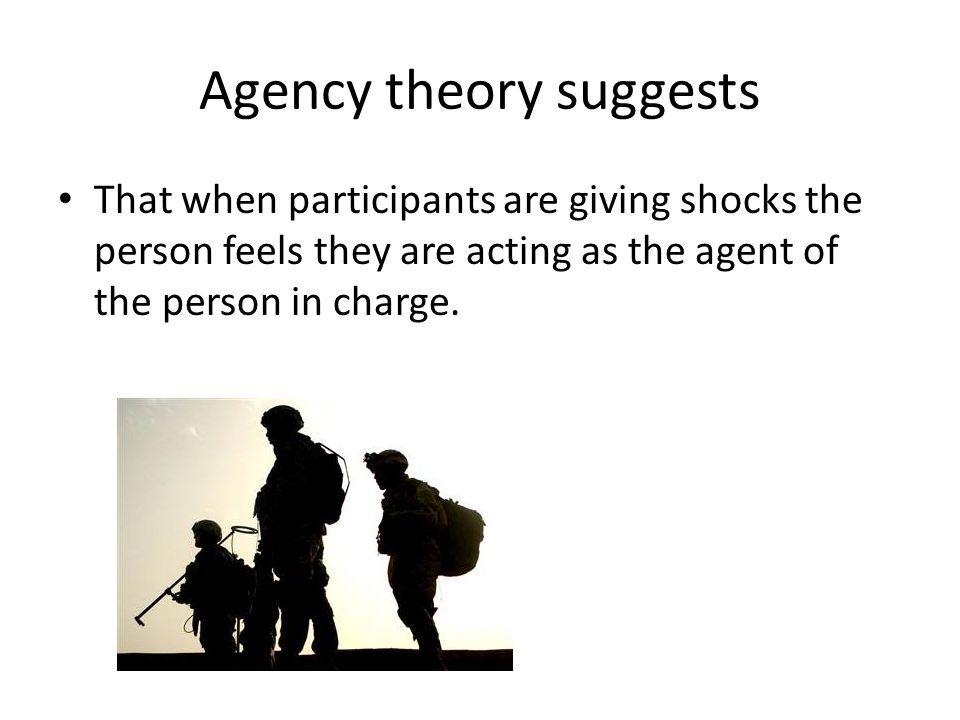 Agency theory suggests