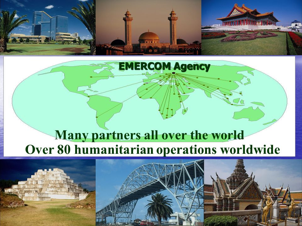 Many partners all over the world