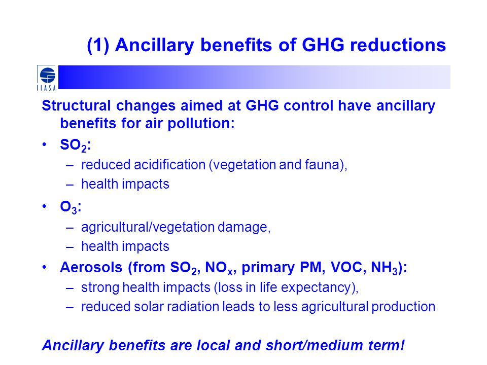 (1) Ancillary benefits of GHG reductions