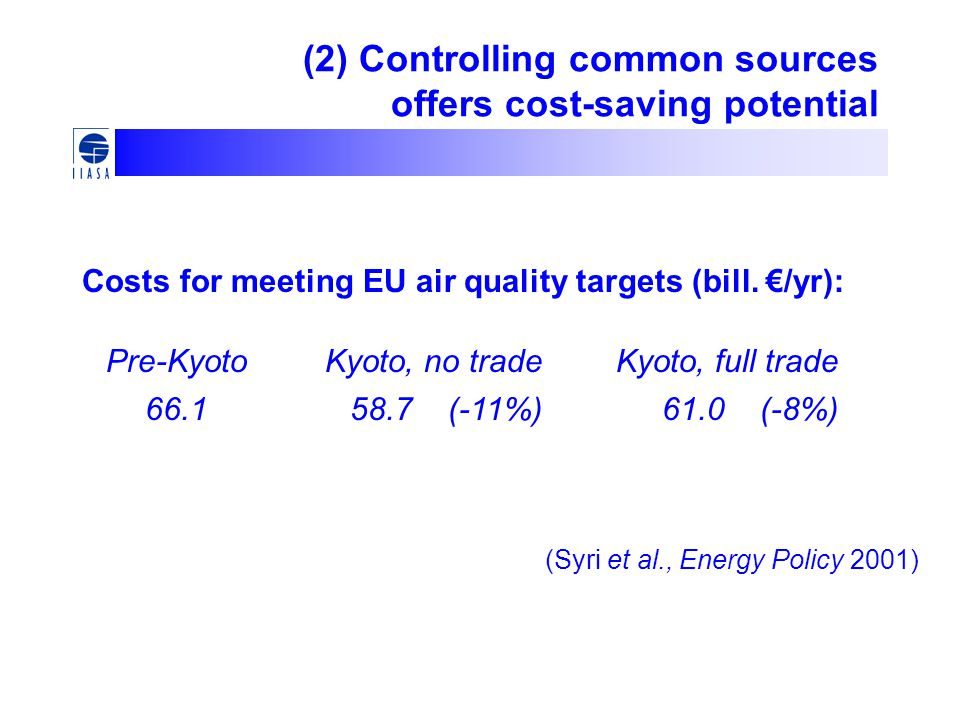 (2) Controlling common sources offers cost-saving potential