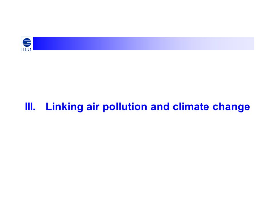III. Linking air pollution and climate change