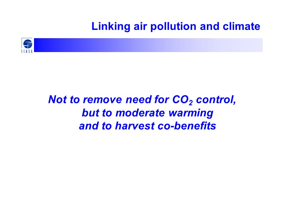 Linking air pollution and climate