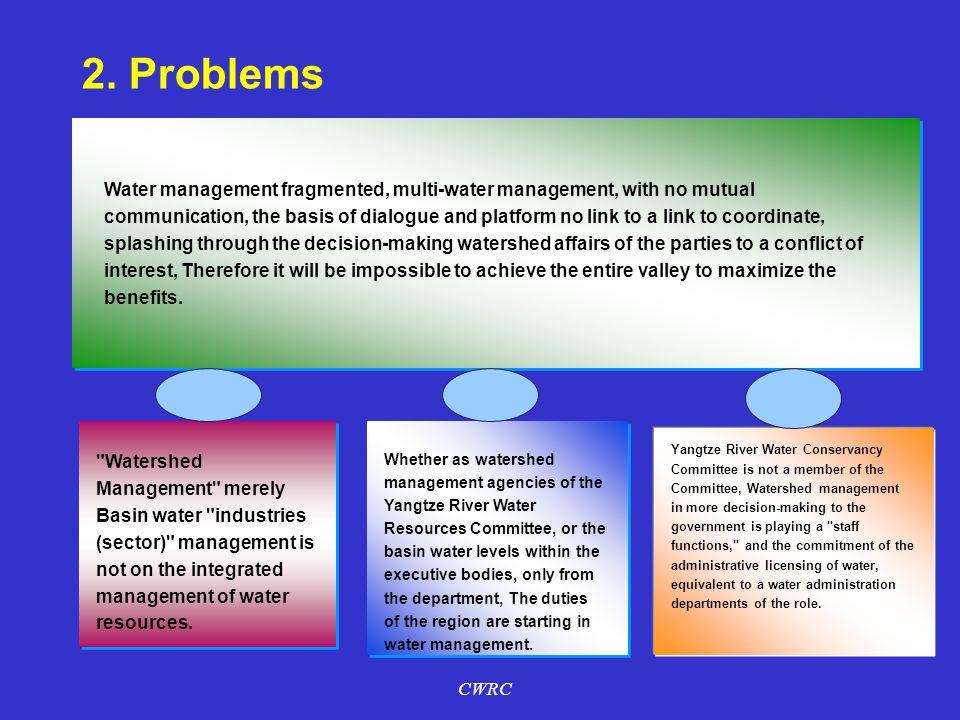 流域内众多地区涉水部门、行业和用水户,虽因水而相关