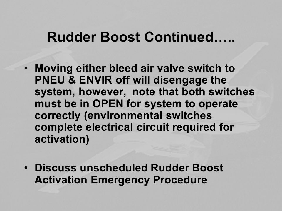 Rudder Boost Continued…..