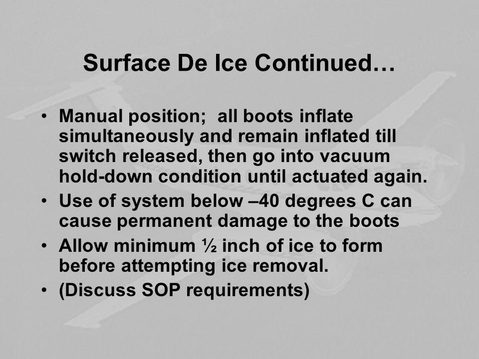 Surface De Ice Continued…