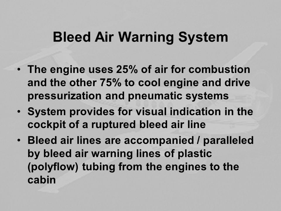 Bleed Air Warning System