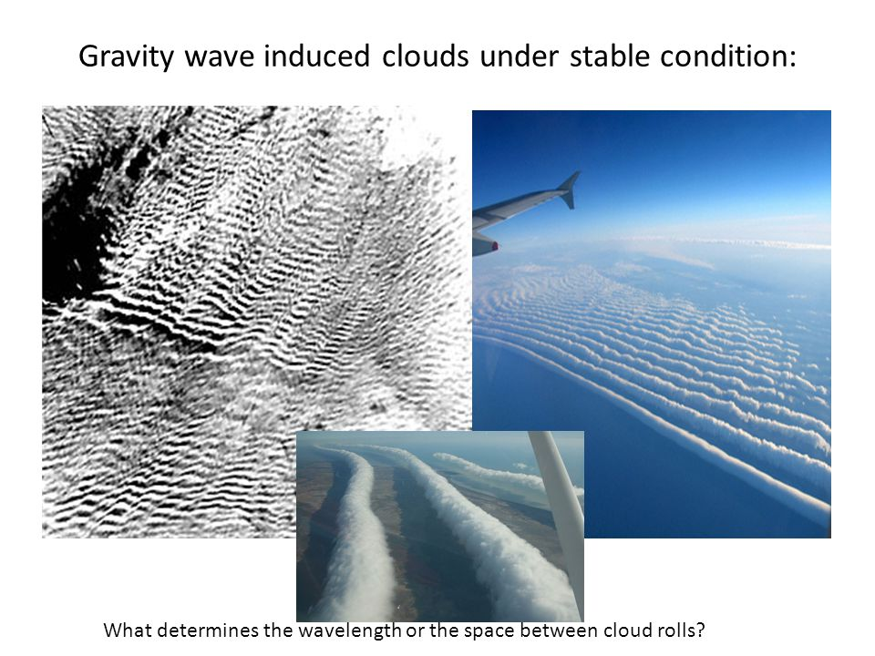 Gravity wave induced clouds under stable condition: