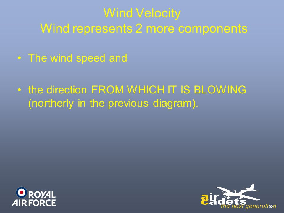 Wind Velocity Wind represents 2 more components