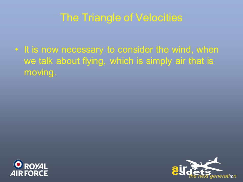 The Triangle of Velocities