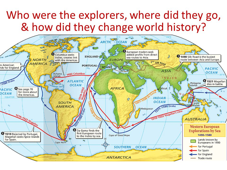 The Age of Exploration Who were the explorers, where did they go, & how did they change world history