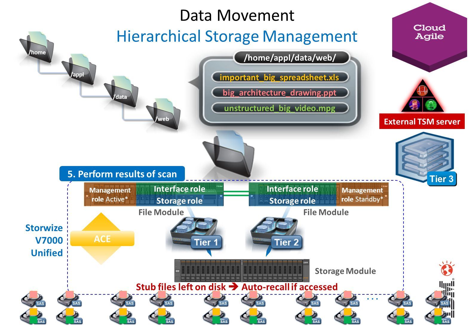 Data Movement Hierarchical Storage Management