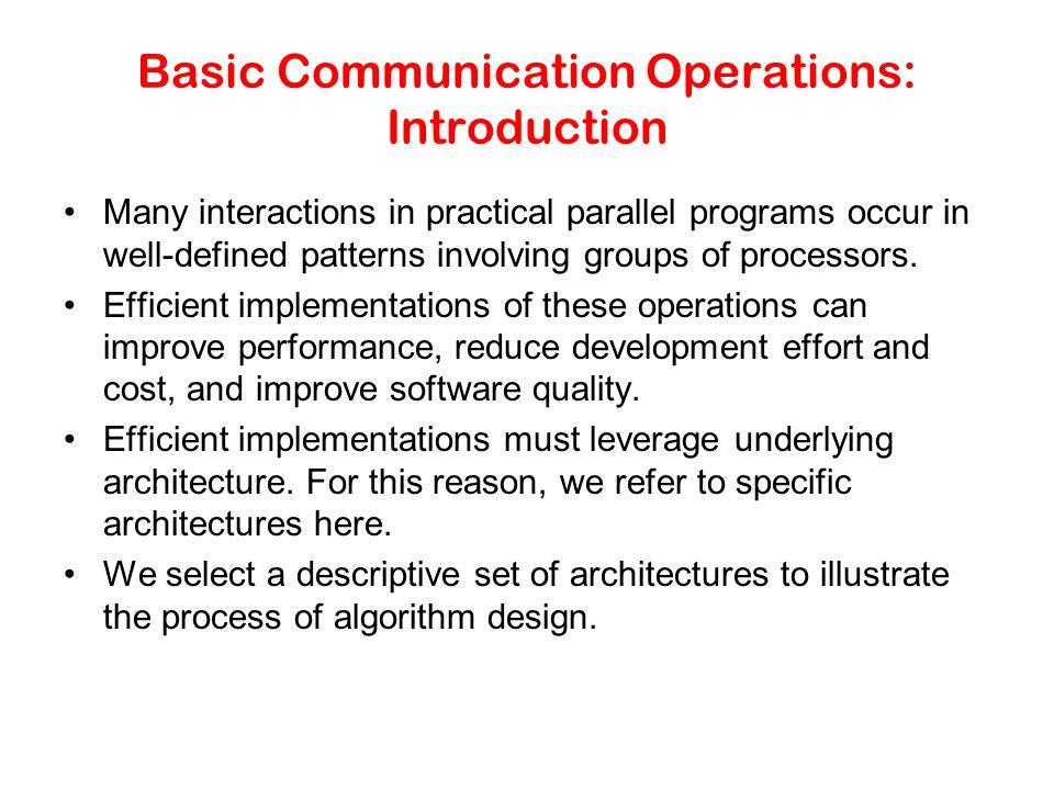 Basic Communication Operations: Introduction