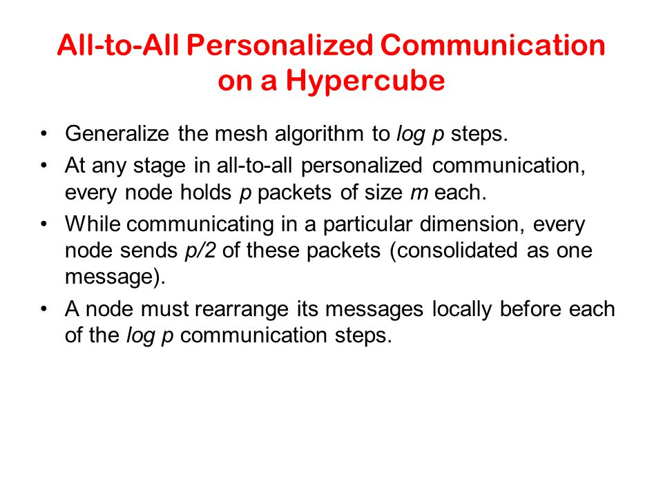 All-to-All Personalized Communication on a Hypercube