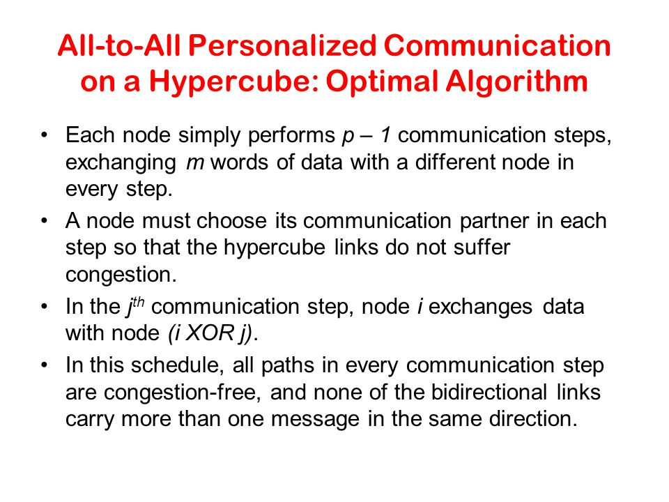 All-to-All Personalized Communication on a Hypercube: Optimal Algorithm