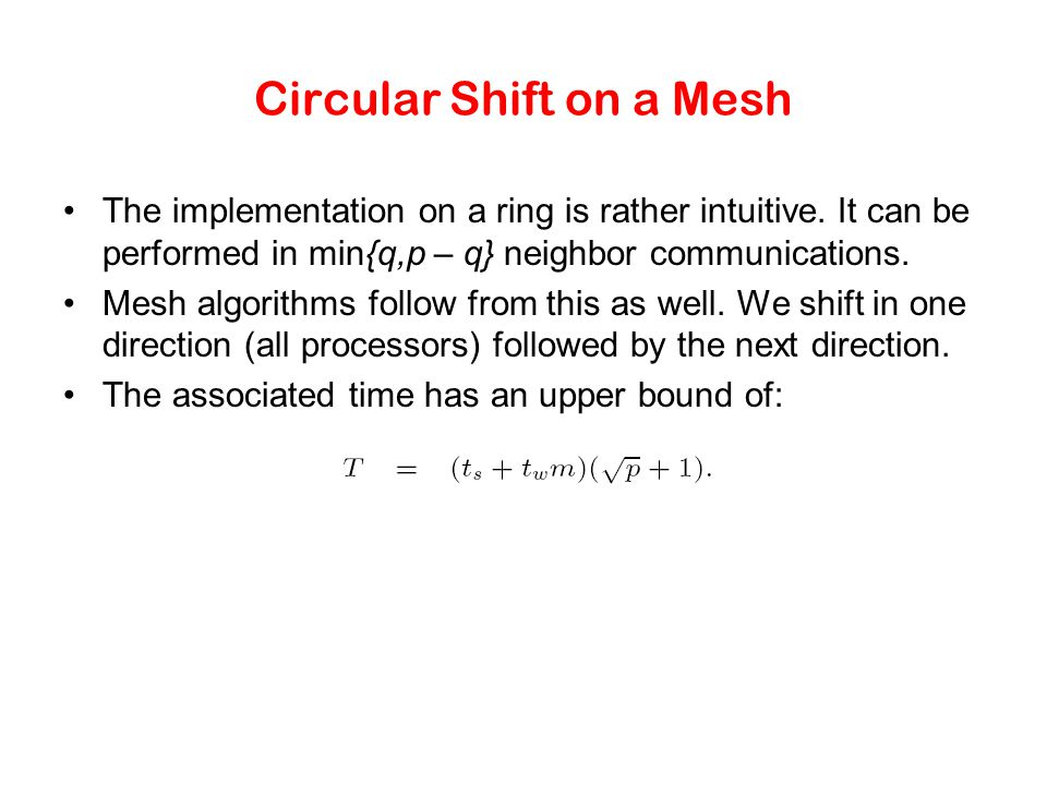 Circular Shift on a Mesh