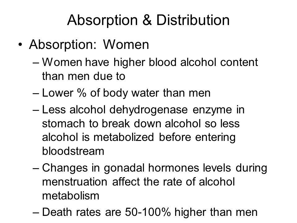 Absorption & Distribution