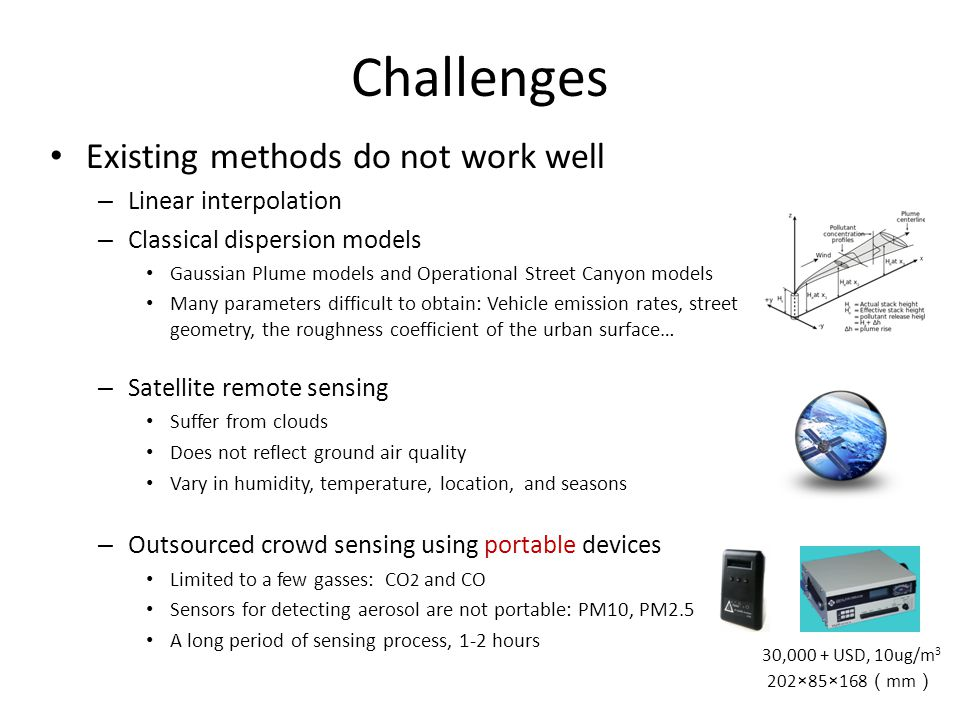 Challenges Existing methods do not work well Linear interpolation