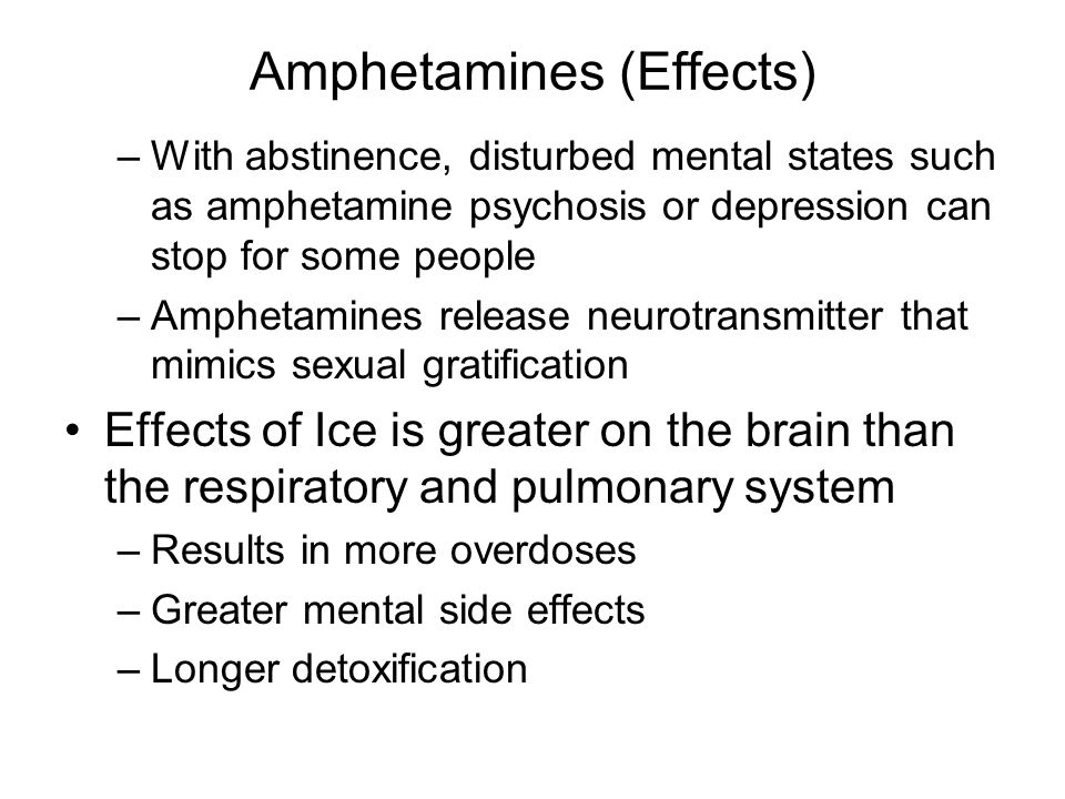Amphetamines (Effects)