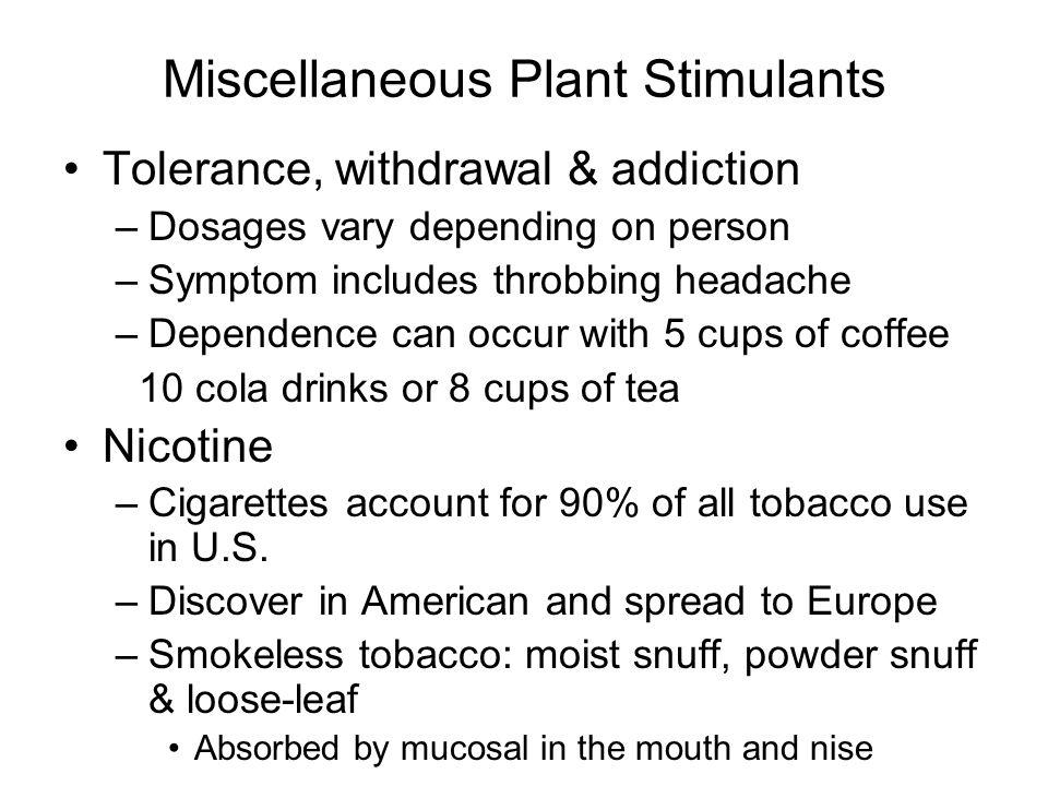 Miscellaneous Plant Stimulants