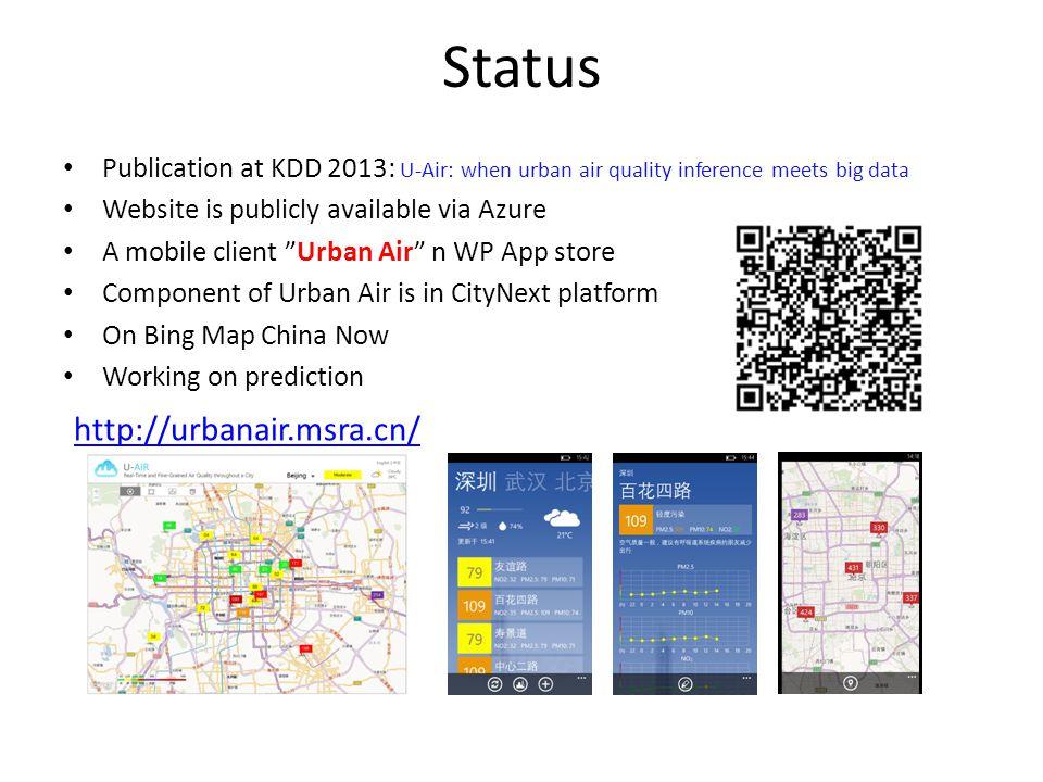 Status http://urbanair.msra.cn/