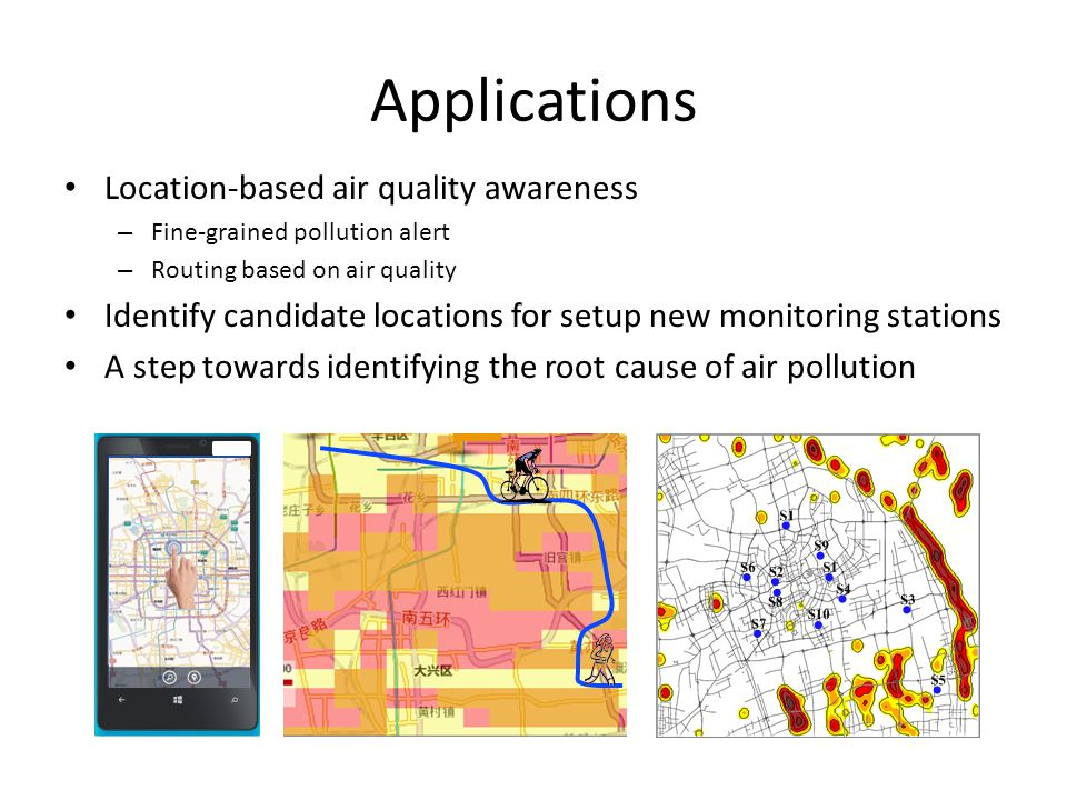 Applications Location-based air quality awareness