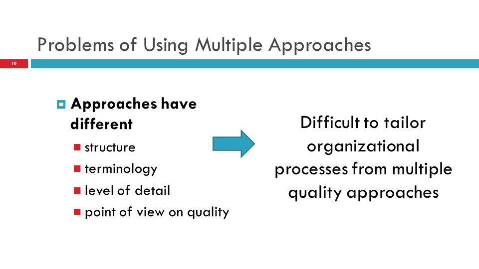 Problems of Using Multiple Approaches