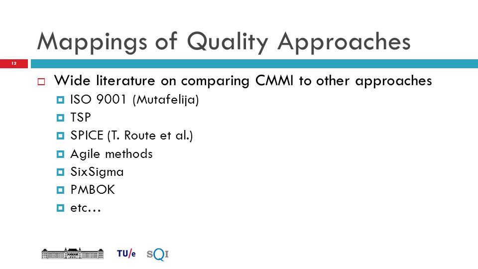 Mappings of Quality Approaches