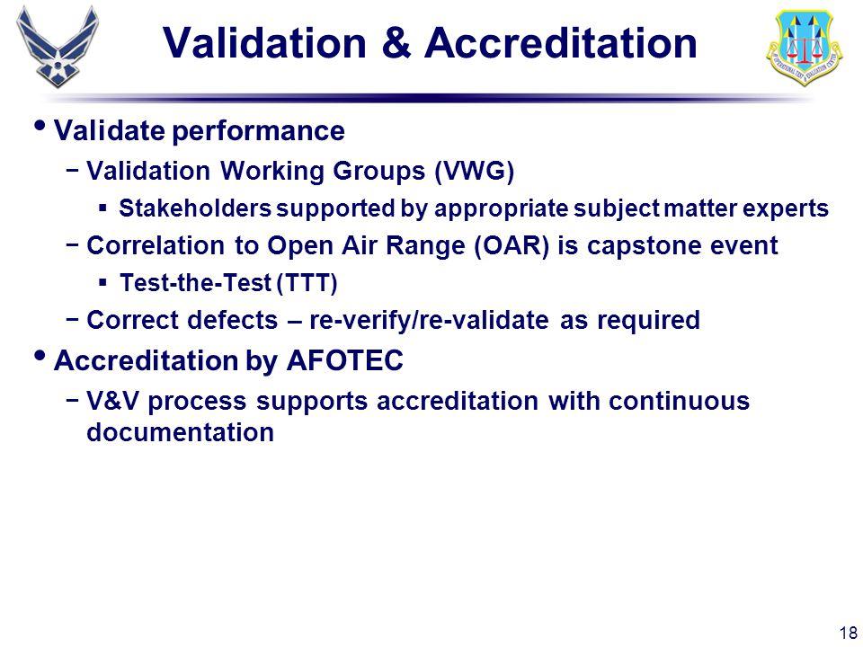 Validation & Accreditation