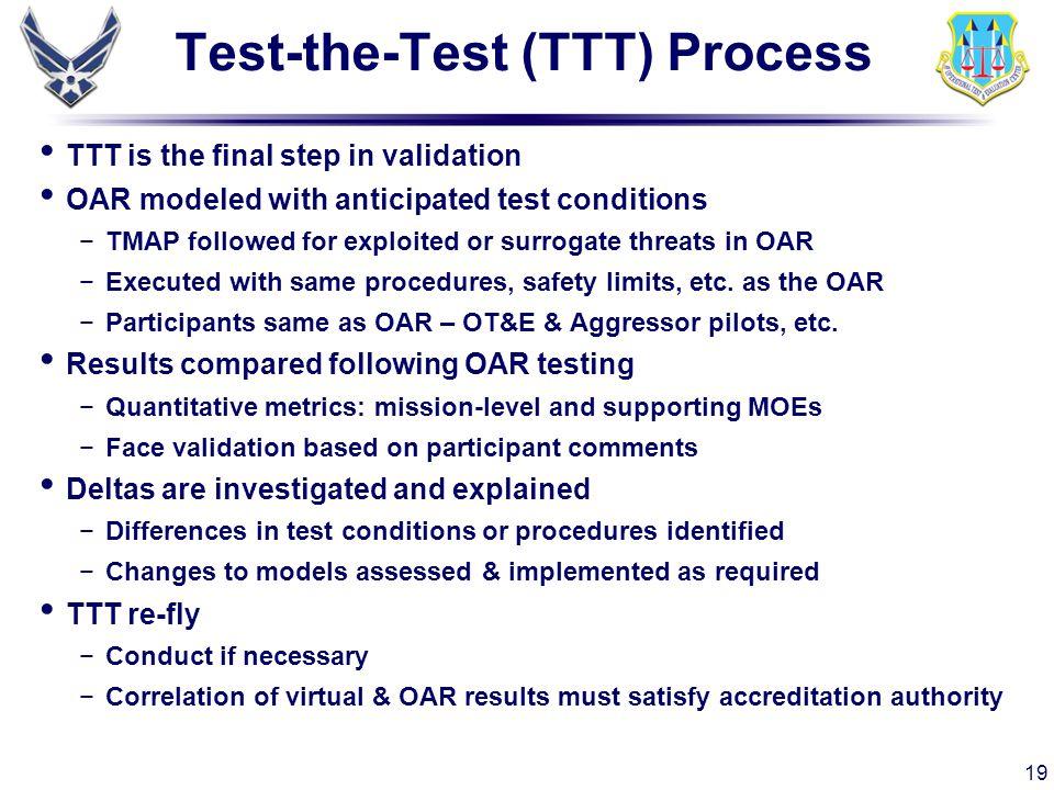 Test-the-Test (TTT) Process