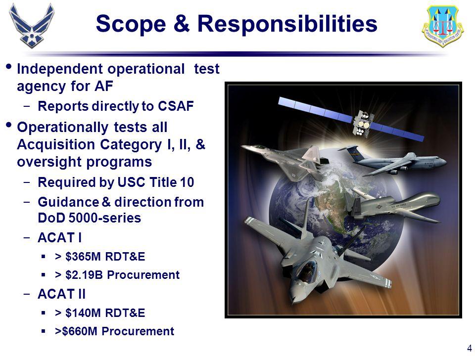 Scope & Responsibilities