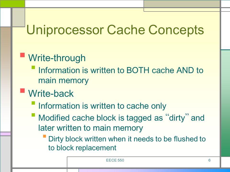 Uniprocessor Cache Concepts