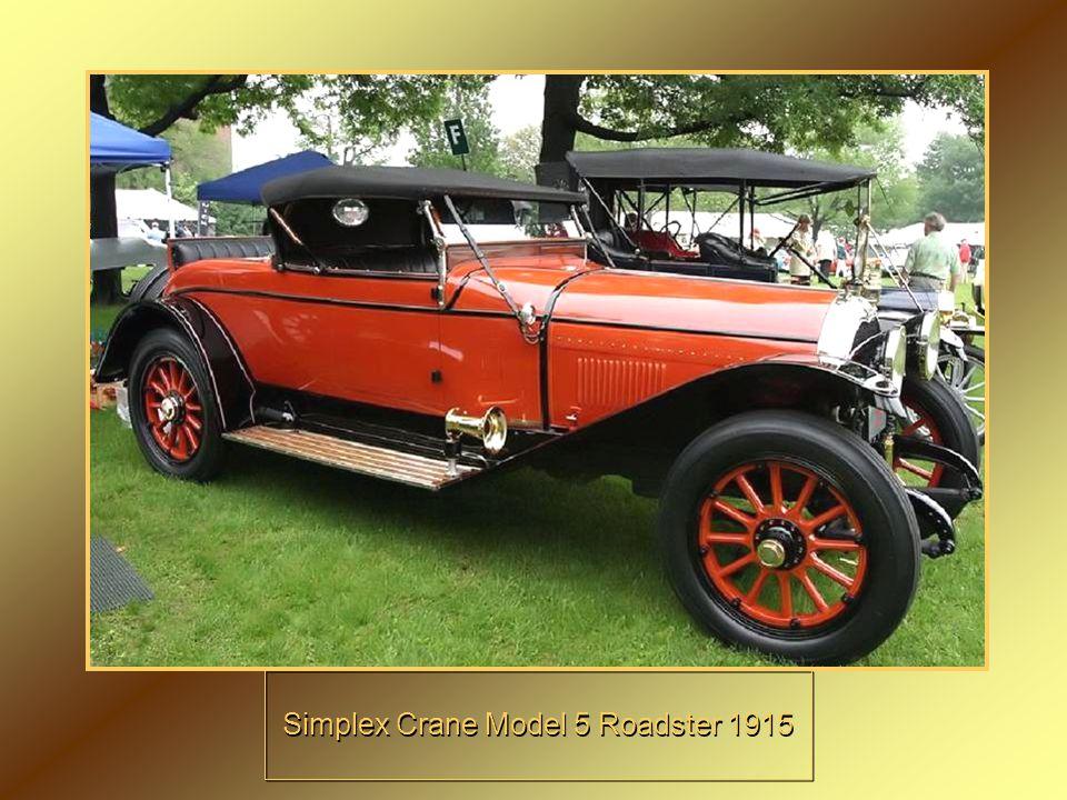 Simplex Crane Model 5 Roadster 1915