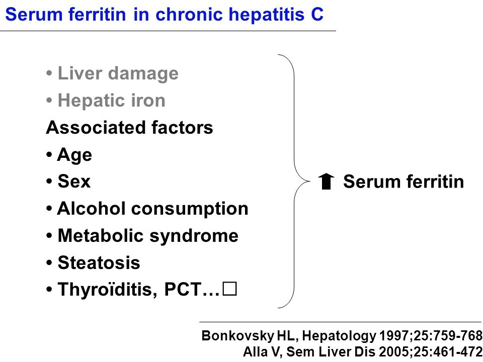 Serum ferritin in chronic hepatitis C