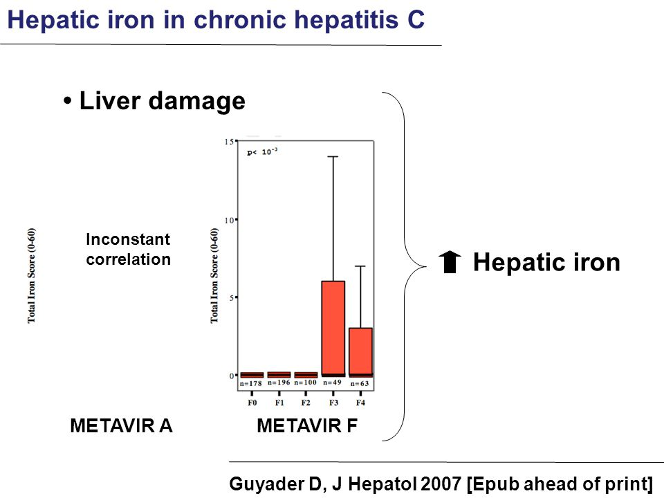 Hepatic iron in chronic hepatitis C