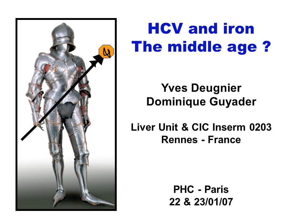 HCV and iron The middle age Yves Deugnier Dominique Guyader
