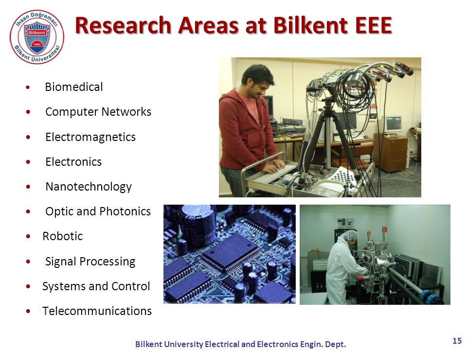 Research Areas at Bilkent EEE