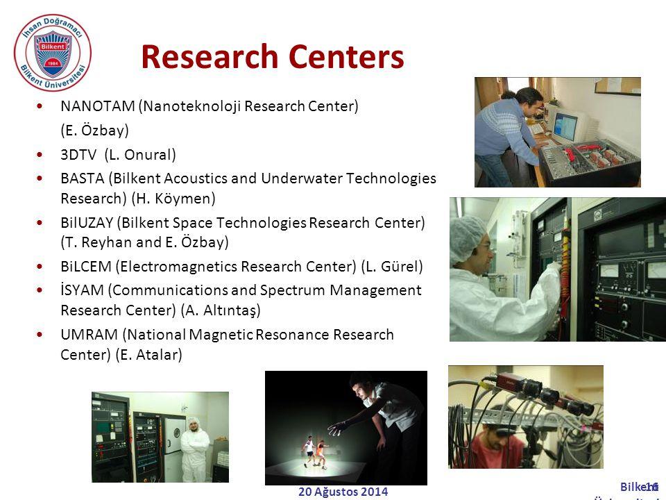 Research Centers NANOTAM (Nanoteknoloji Research Center) (E. Özbay)
