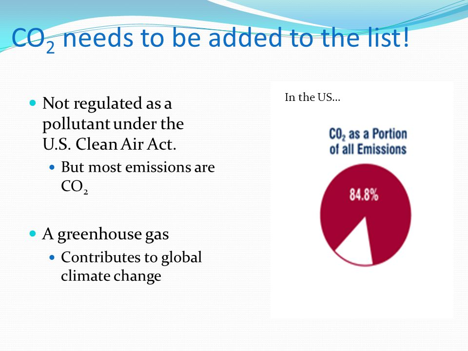CO2 needs to be added to the list!