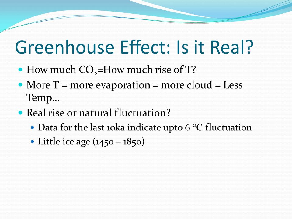 Greenhouse Effect: Is it Real