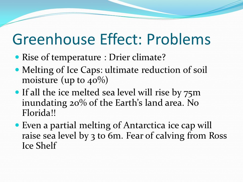 Greenhouse Effect: Problems