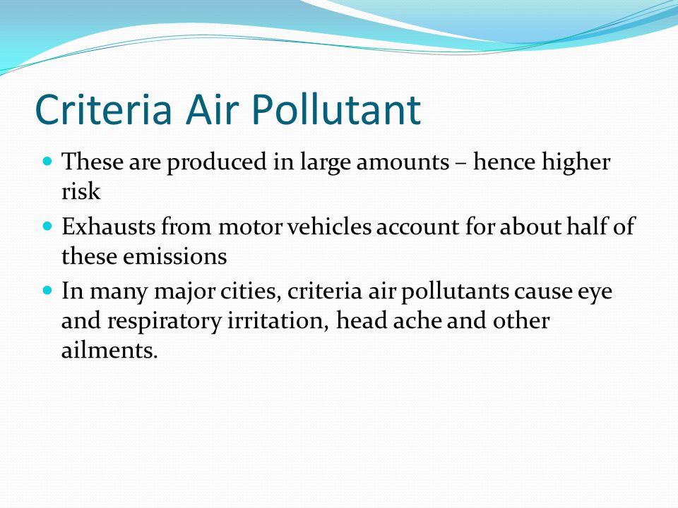 Criteria Air Pollutant
