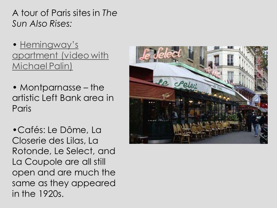 A tour of Paris sites in The Sun Also Rises: