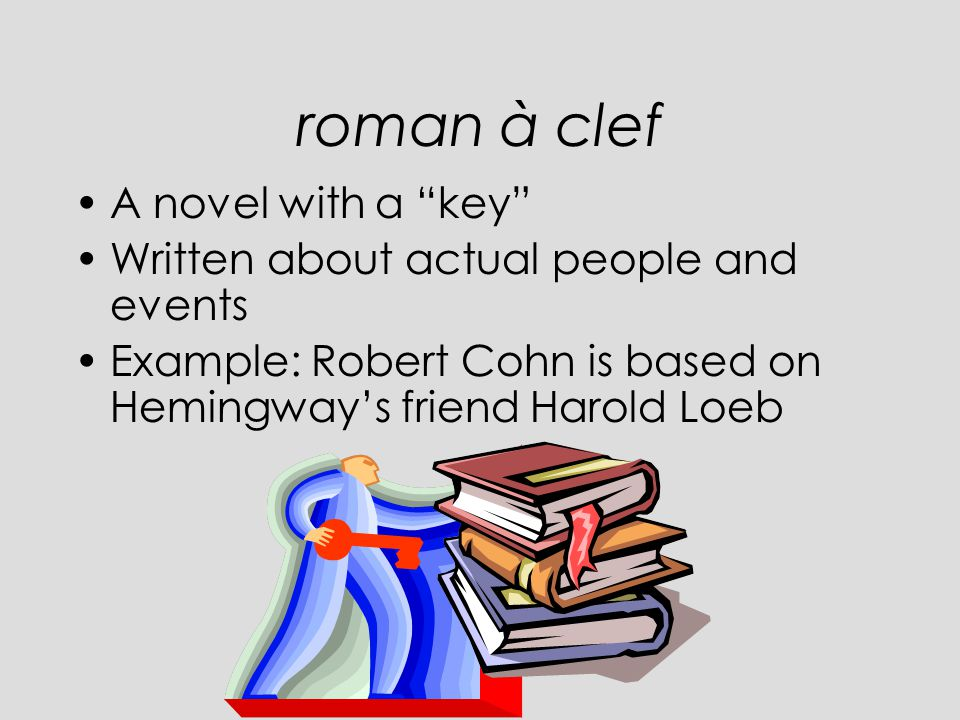 roman à clef A novel with a key